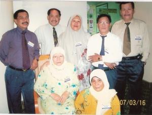 Bertemu kawan-kawan lama dalam Kursus Peralihan Sebelum Bersara di MARDI Kota Kinabalu pada 16 MAC 2007